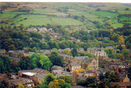 Photograph. Uppermill taken from Ladcastle Road.